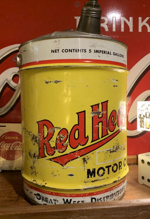 Red Head Oil Can 1940s-50s.