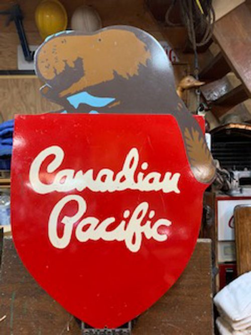 Canadian Pacific Railroad Vintage sign 1949-1968.