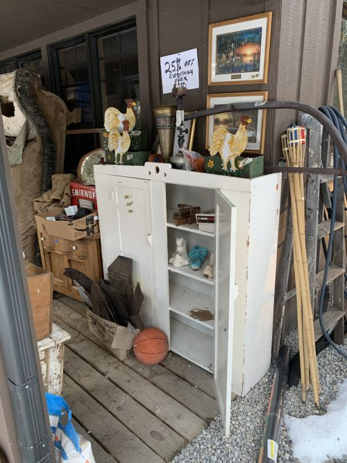 Vintage/Antique as-is on the shop porch 1850's -1930's.