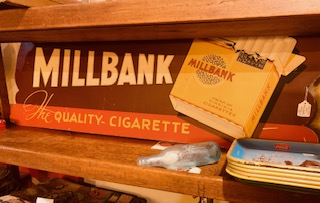 Millbank Cigarette Display 1940s.